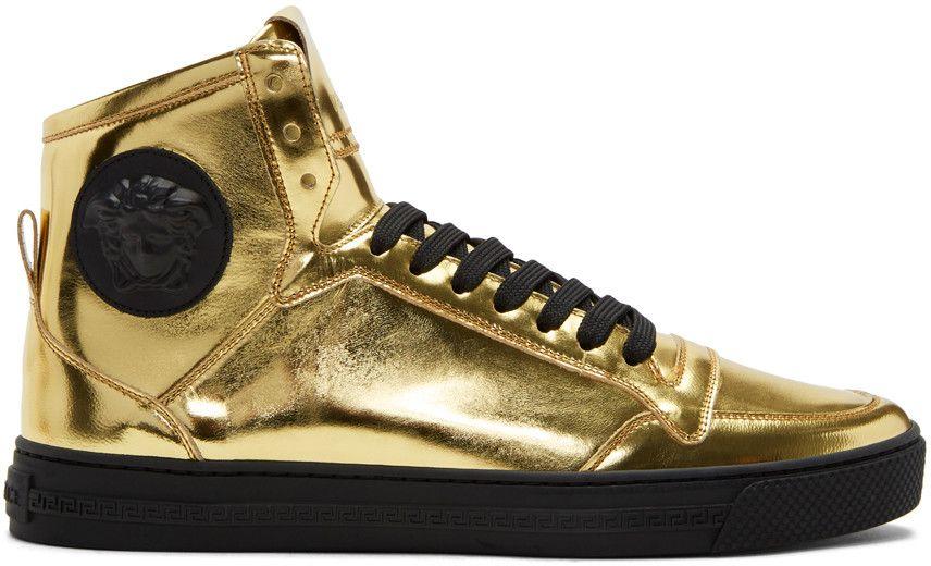 versace gold sneakers