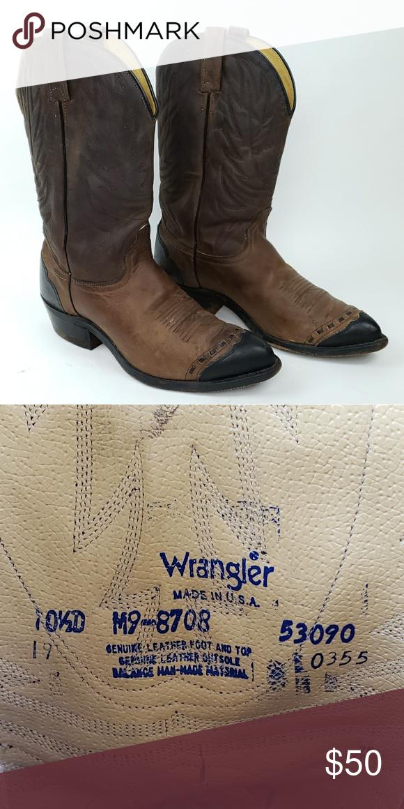 b76af941059 Wrangler Men's Cowboy Boots Good condition Size 10.5D Wrangler Shoes ...