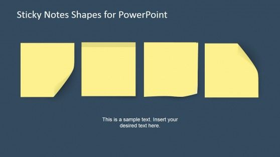 Sticky Notes Powerpoint Template  Template Microsoft Powerpoint