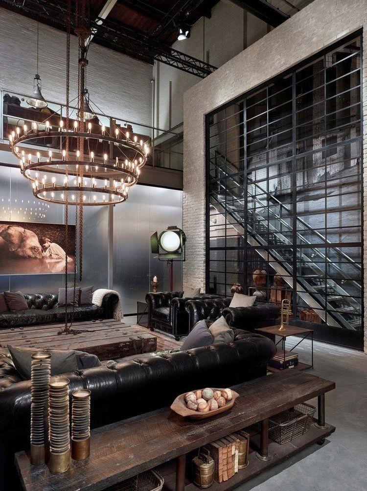 Pin di laura pizio su design industrial house loft for Appartamento design industriale
