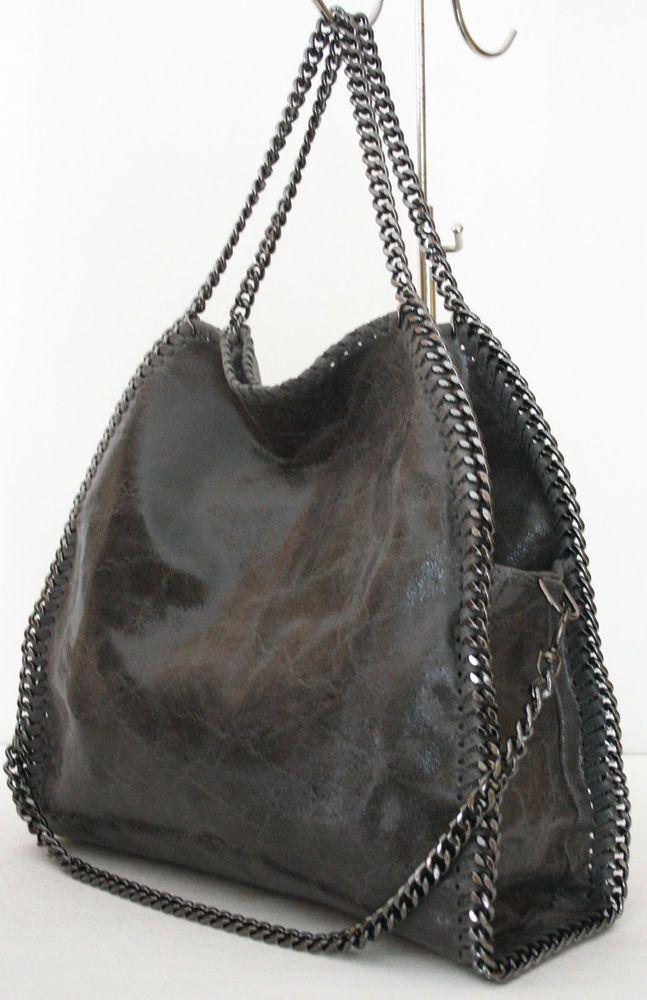 Luxus Damentasche Tasche Stella Kette Bag Chain Leder