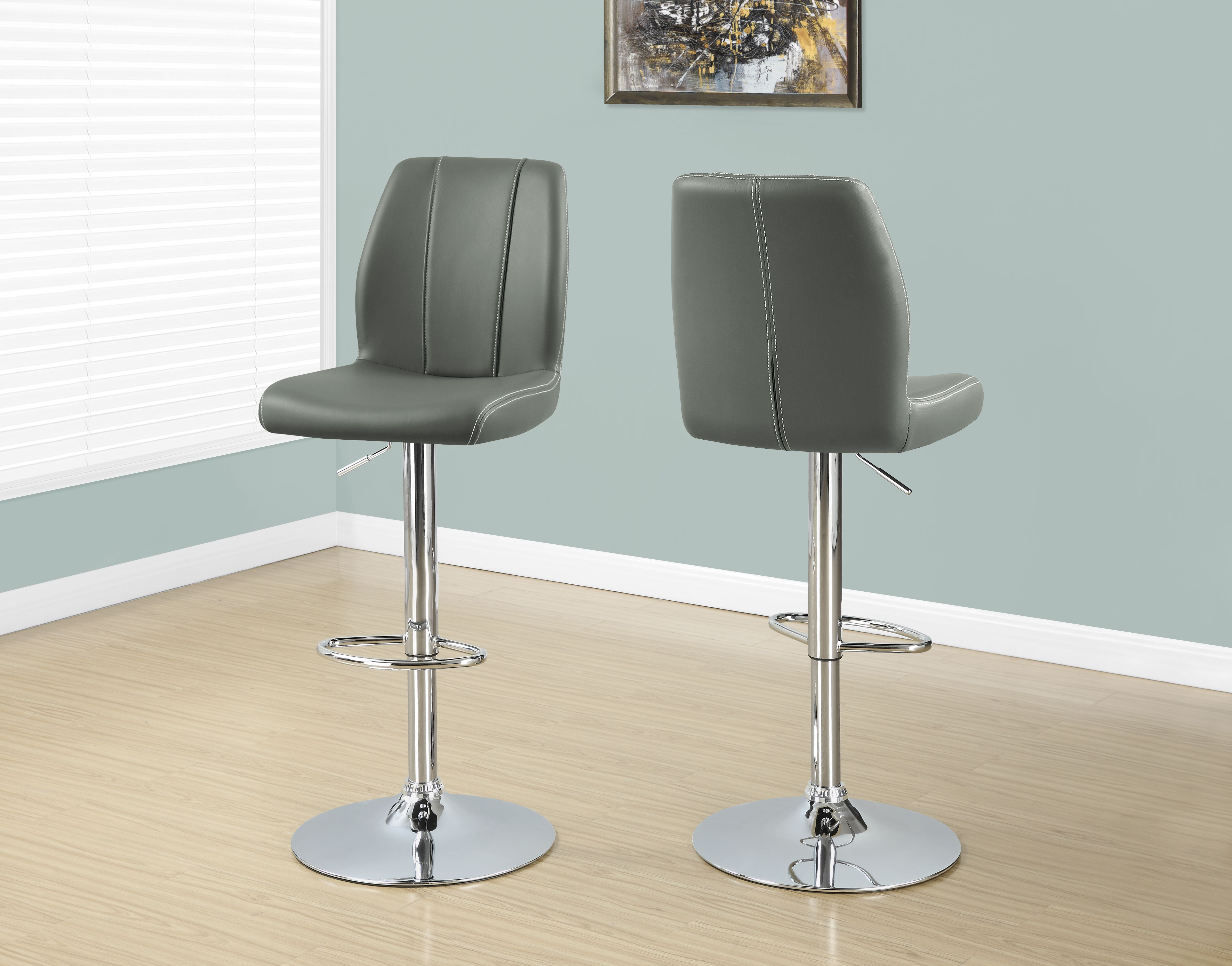 Hawthorne Collection Adjustable Swivel Bar Stool in White Set of 2
