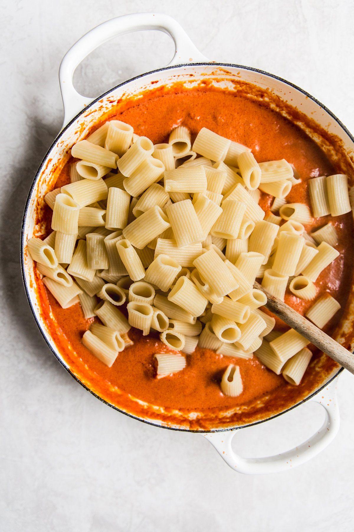 Pasta with Tomato Cream Sauce | The Modern Proper