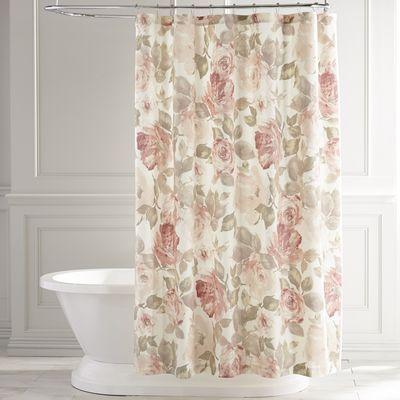 Lovely Vintage Rose Pink Shower Curtain