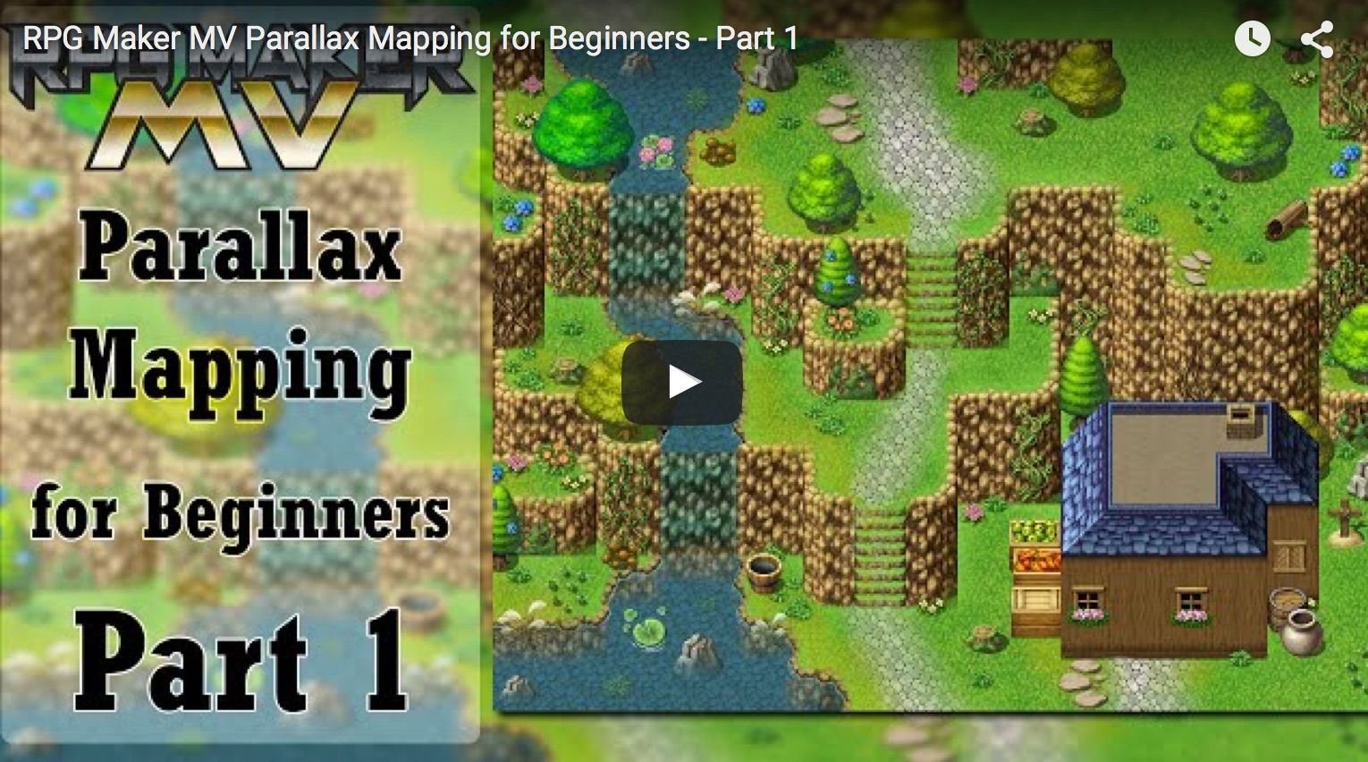 My parallax mapping tutorial, a 3-part video series, made