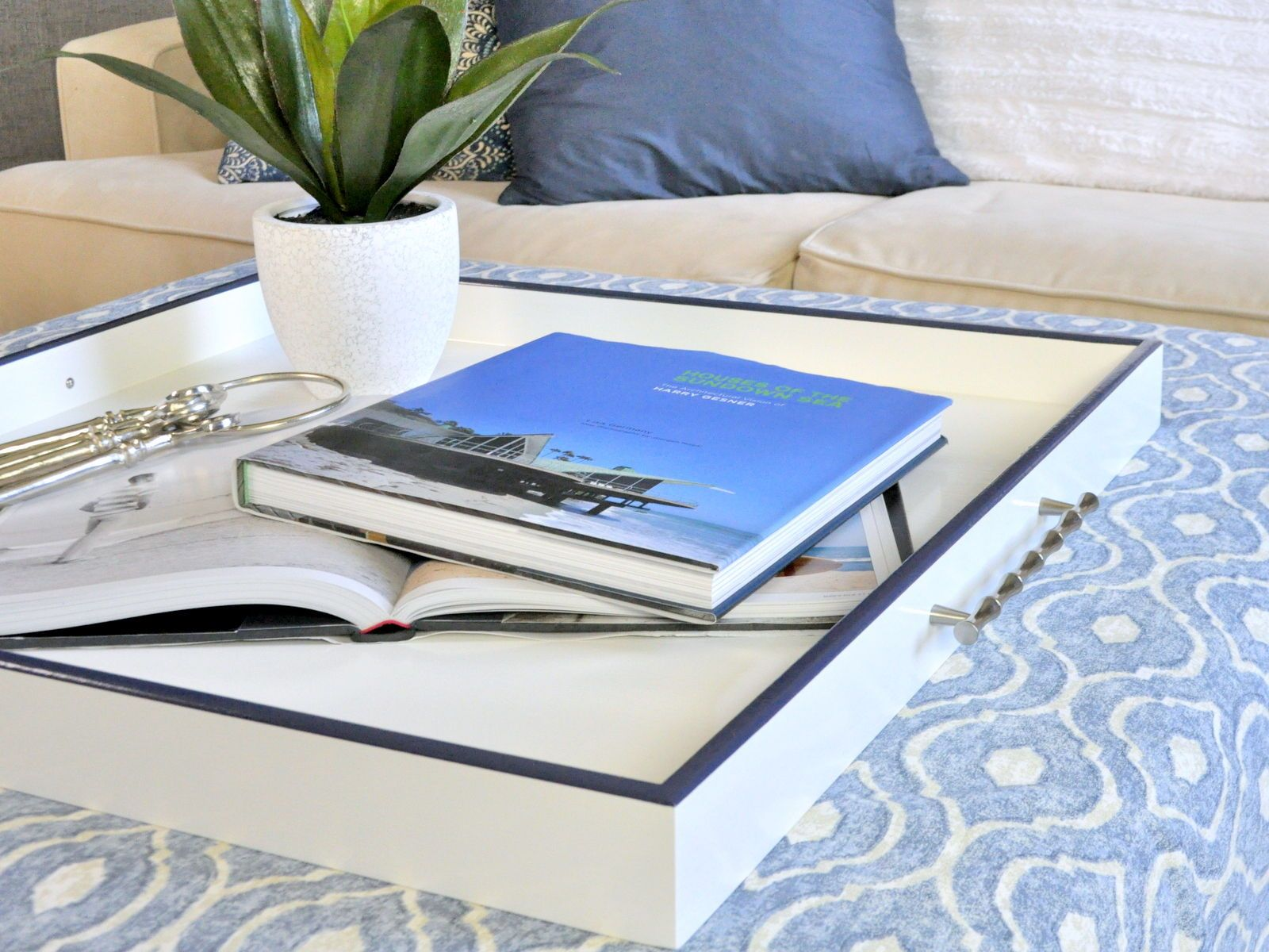 Bamboo Handles Elevate This Gorgeous Tray Every Ottoman And