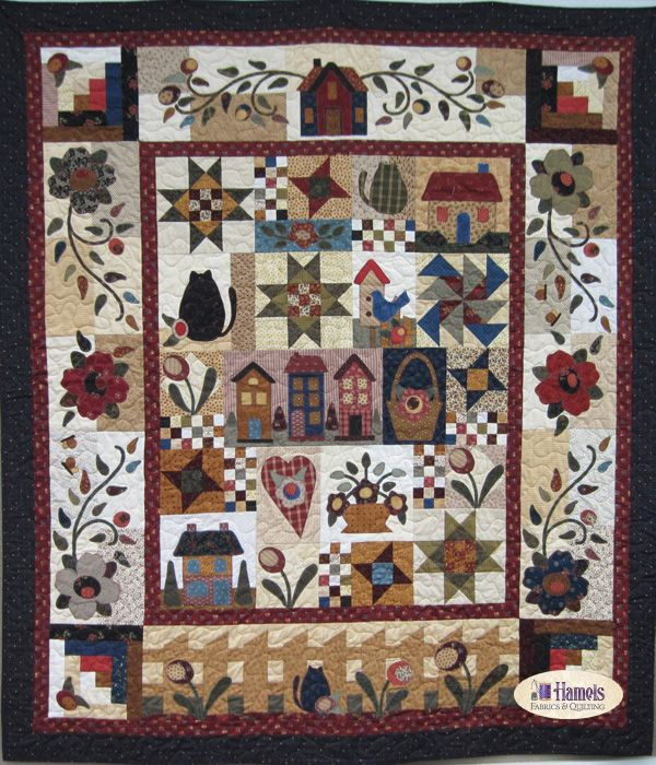 country rosewood cottage quilt kit just got first month bom rh pinterest com country cottage patchwork quilts country cottage quilts king size
