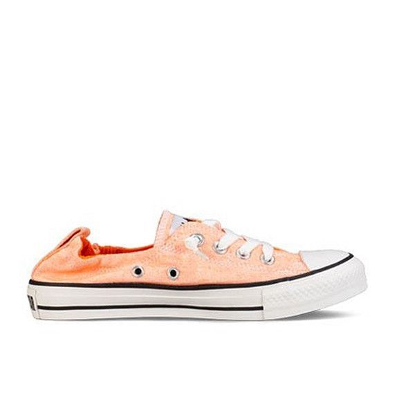 Neon Orange Slip-On Low-Top Sneaker
