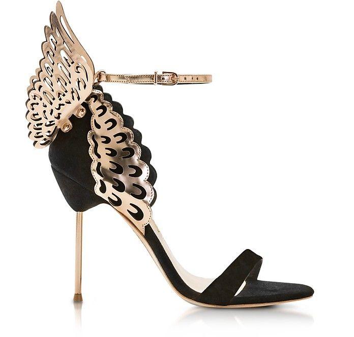 dafc6a4109d5 SOPHIA WEBSTER Black and Rose Gold Evangeline Sandals.  sophiawebster  shoes