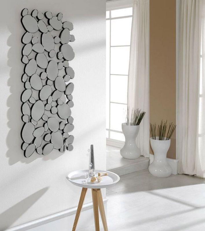 Espejos de cristal moderno piedras vestidor espejos de for Espejos originales recibidor
