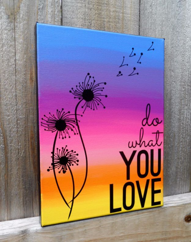 wonderful Cool And Easy Paintings Part - 2: DIY Canvas Painting Ideas - Quote Canvas Art - Cool and Easy Wall Art Ideas  You