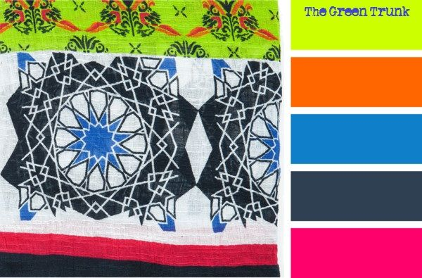 Color Palette #2: Zara Oriental Printed Cotton Scarf ...