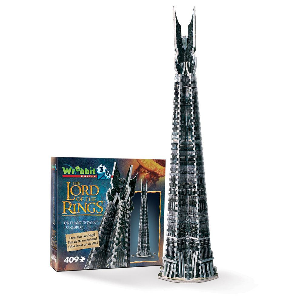 Orthanc Tower (Isengard) 3D puzzle from Wrebbit 3D. Gondor, Middle ...