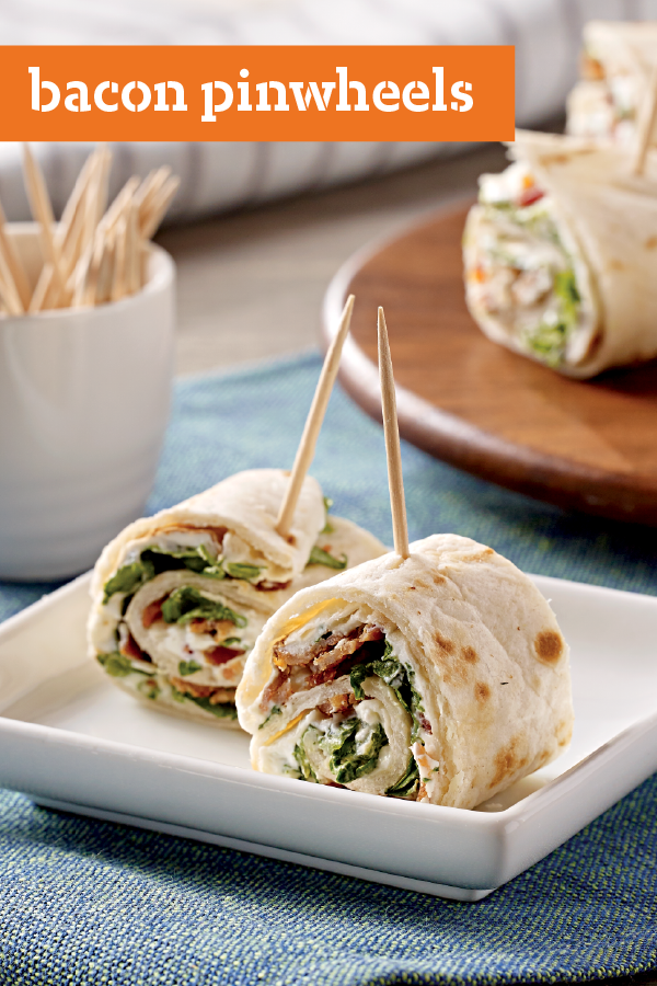 Bacon Pinwheels We Used Tortillas Spread With Cream Cheese To Make These Tasty Bacon And