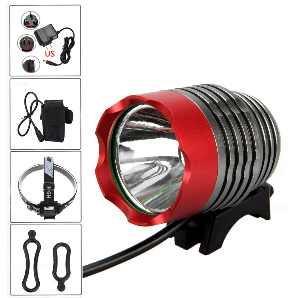 Portable Waterproof 15000LM LED Bike MTB Bicycle Front Light Headlight Lamp