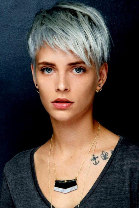Beste Frisuren Frauen Graue Haare | Kurzhaarfrisuren