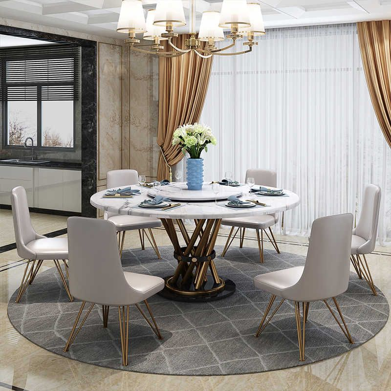 Karois Bs055 Light Luxury Multifunctional With Turntable Telescopic Rotating Household Dining Table And Chair Combination Dining Tables Aliexpress In 2020 Modern Marble Dining Tables Dining Table Marble Dining Table