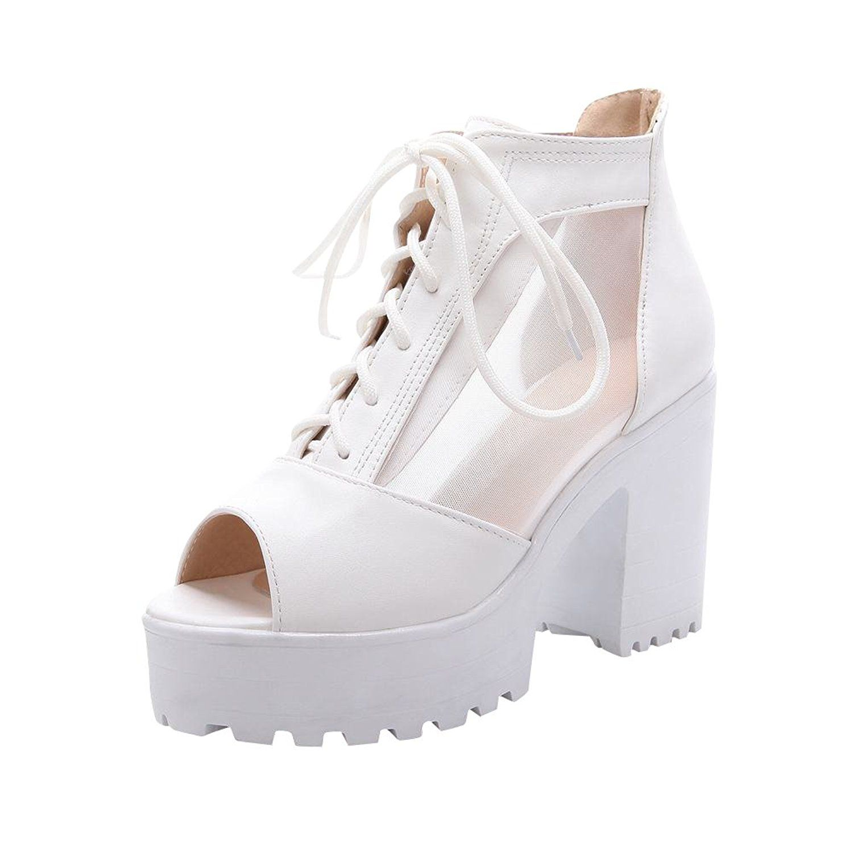 bbe56af172b Carol Shoes Elegance Women's Fashion Lace-up Peep-toe Sweet Voile ...