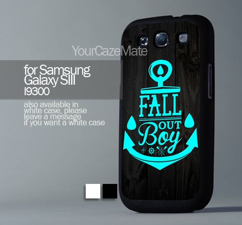 Fall Out Boy Anchor, Samsung Galaxy s3 Hard Plastic Black | YourCazeMate - Accessories on ArtFire