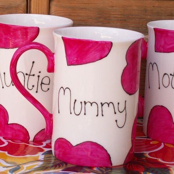 Mother's Day Mug Hand Painted English Bone China