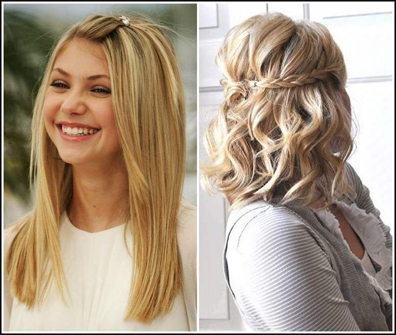 Frisuren Flechten Mittellange Haare Neue Haare Trends Einfache
