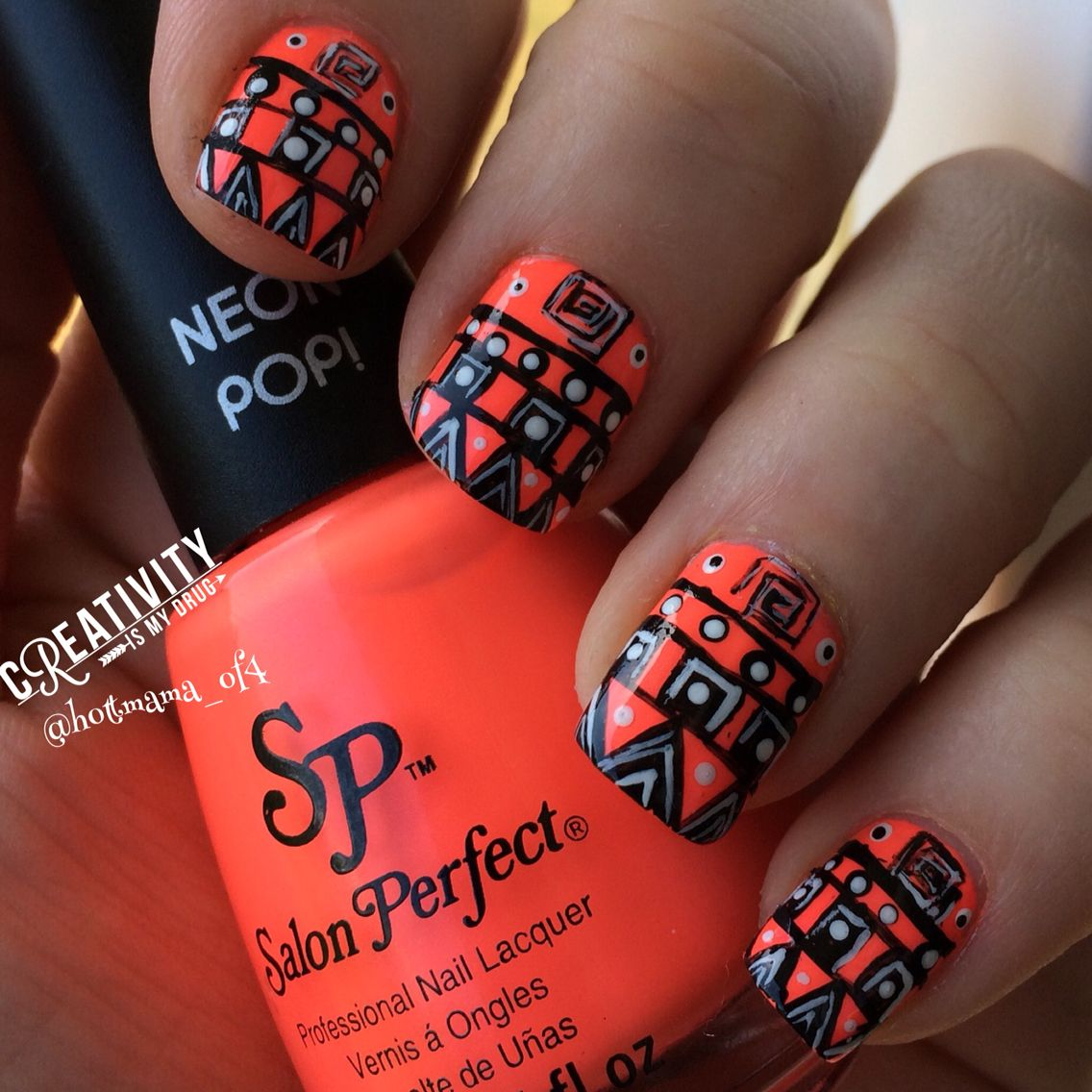 Salon Perfect Cirque Facets Collection Halloween 2020 Copacabana Girl Salon Perfect with acrylic paint for the tribal