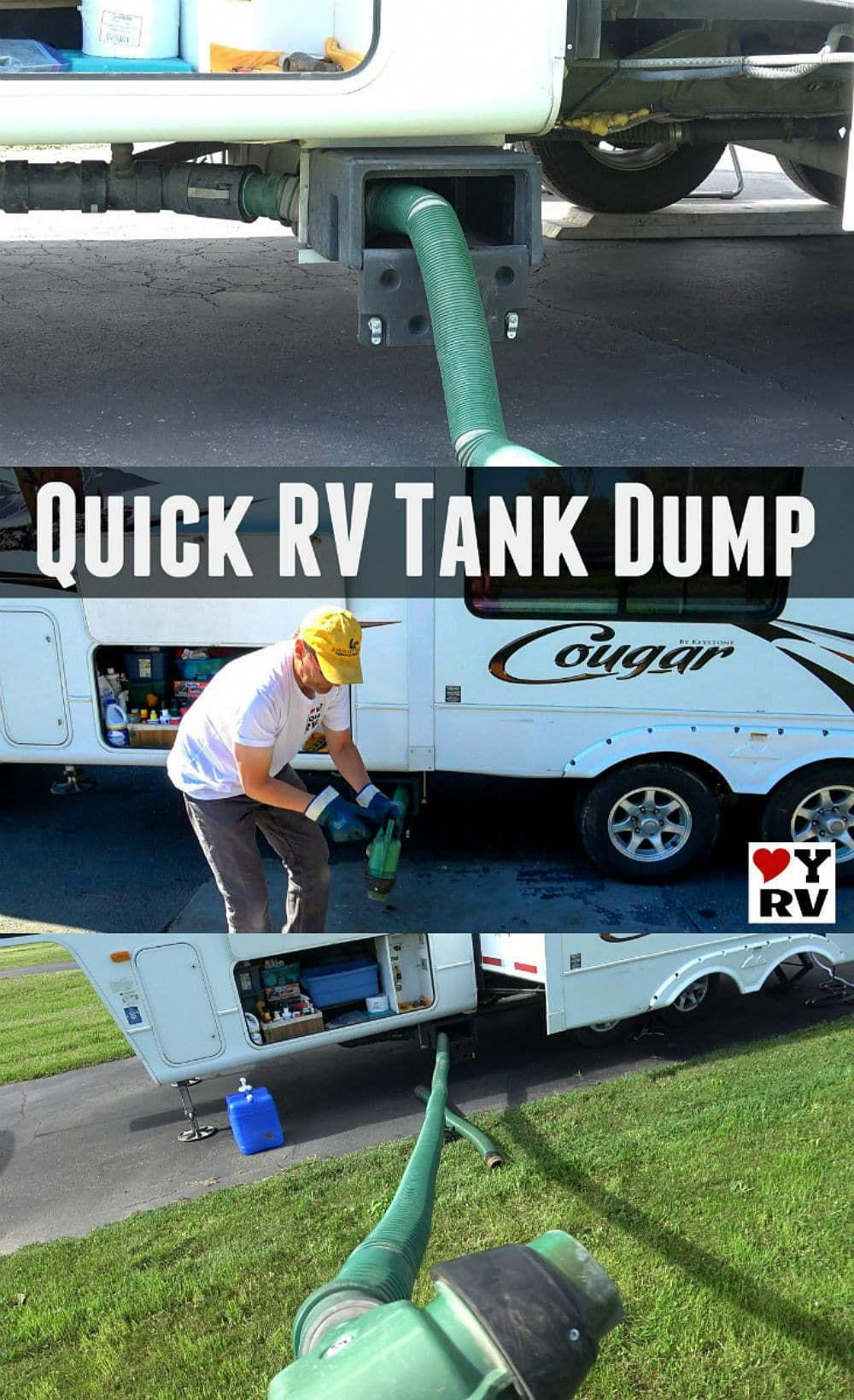 Quick And Clean Rv Waste Tank Dumping Setup Camping Hacks Waste Tanks Camping