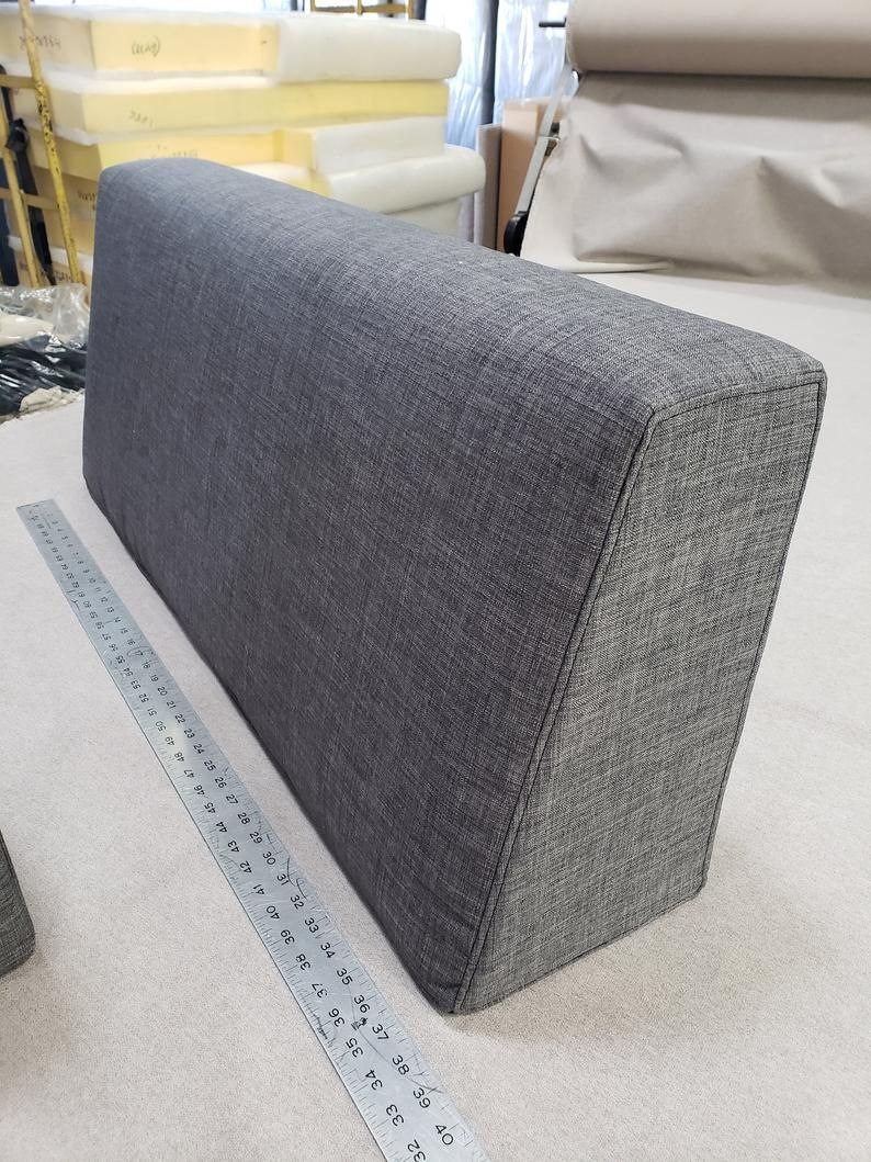 - Wedge Bolster Pillow Cover: Bolster Linen Case With Zipper, For