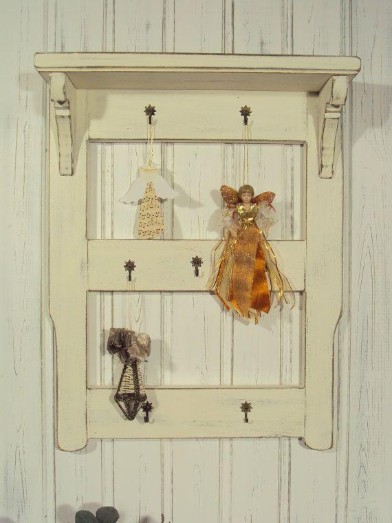shabby chic wall shelf wandregal. Black Bedroom Furniture Sets. Home Design Ideas