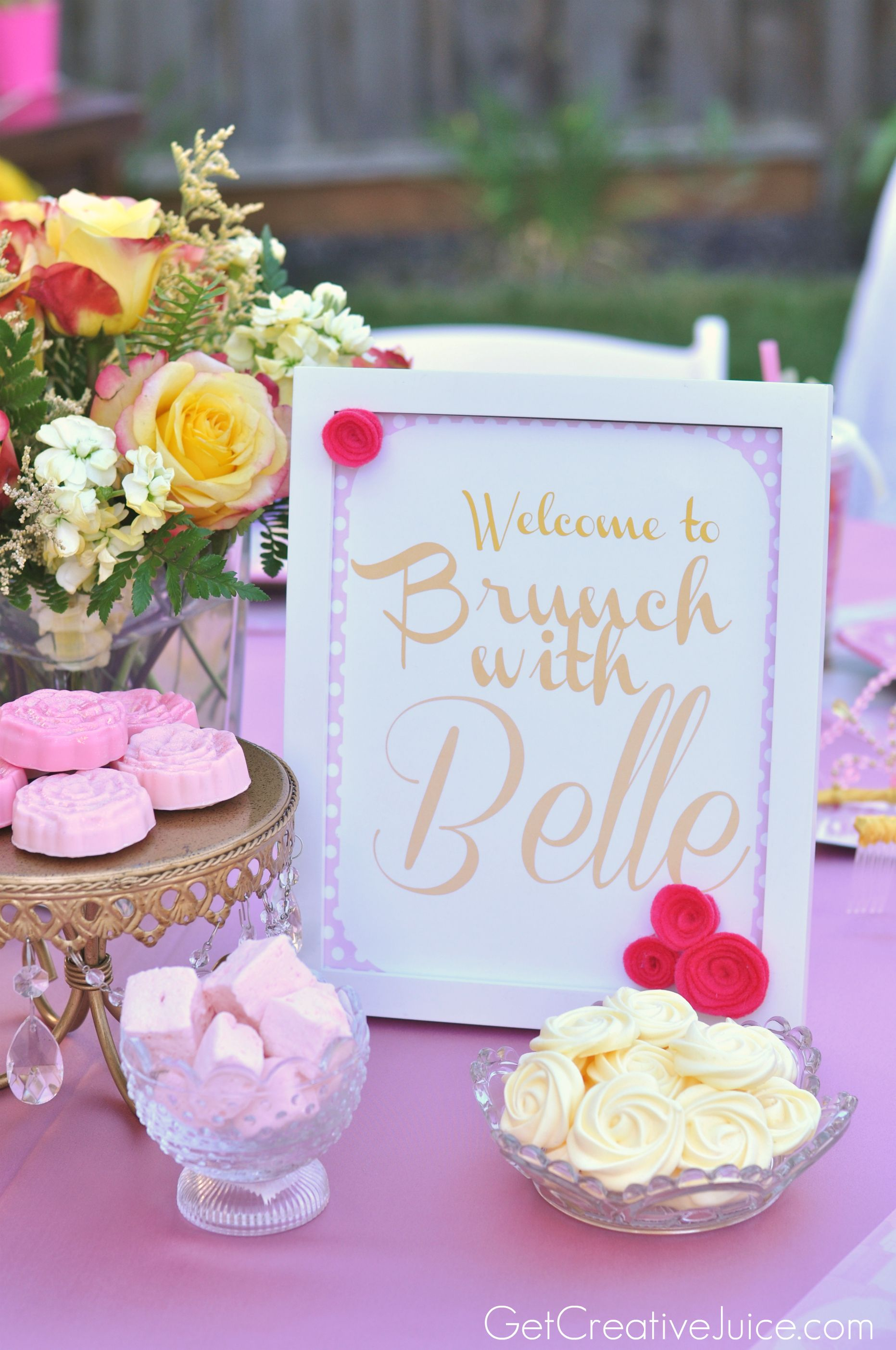 Bunch With Belle Princess Party Ideas Jpg 1863