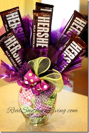 Chocolate Candy Bouquet at RealSouthernLiving.com