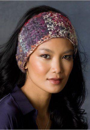 Colors of the Night Ear Warmer Free Crochet Pattern