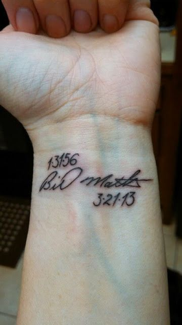 Image Result For Tattoo Ideas For Wrist Grandma Died Signature