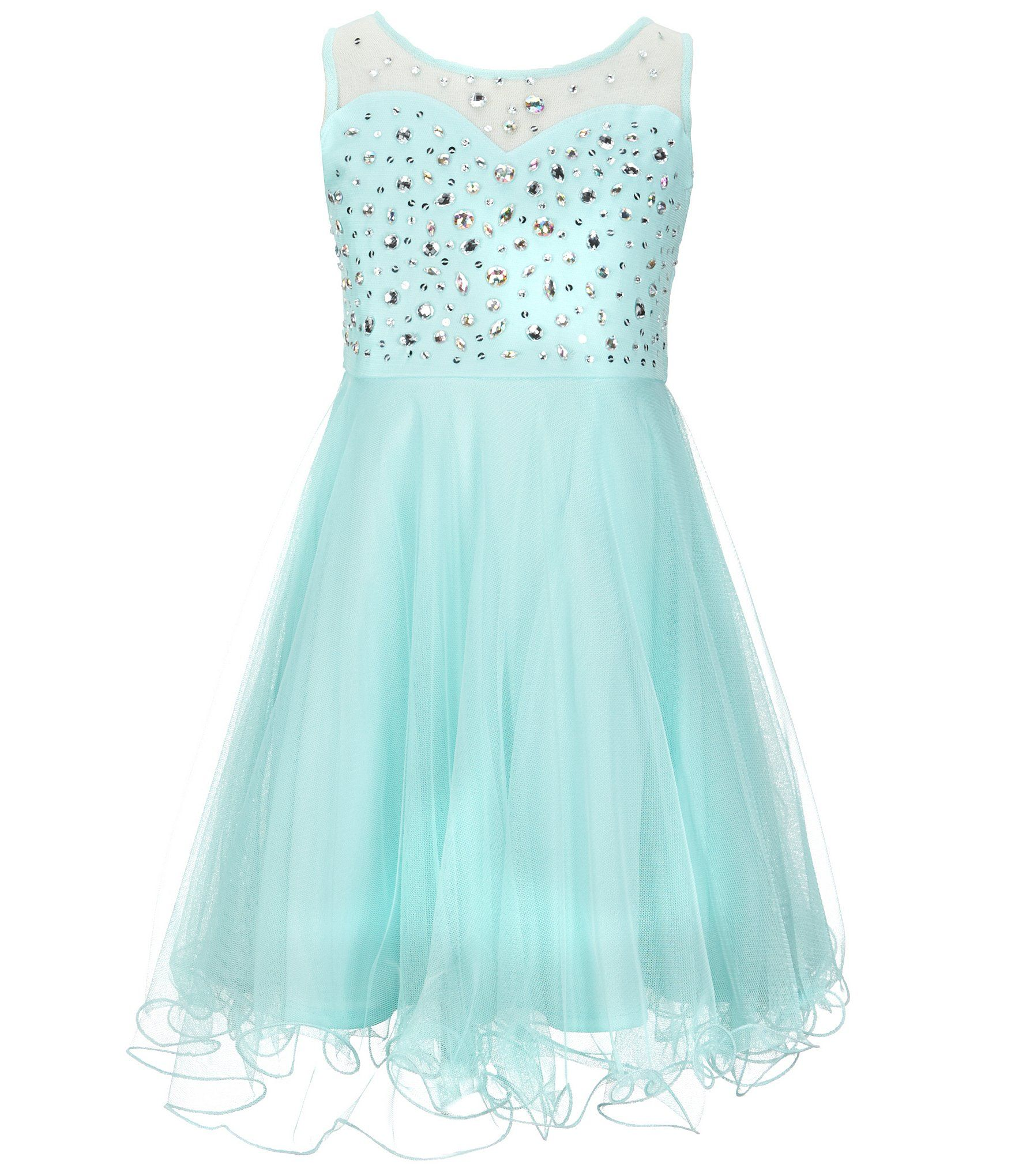 Shop for Tween Diva Big Girls 7-16 Beaded Mesh Dress at Dillards.com ...