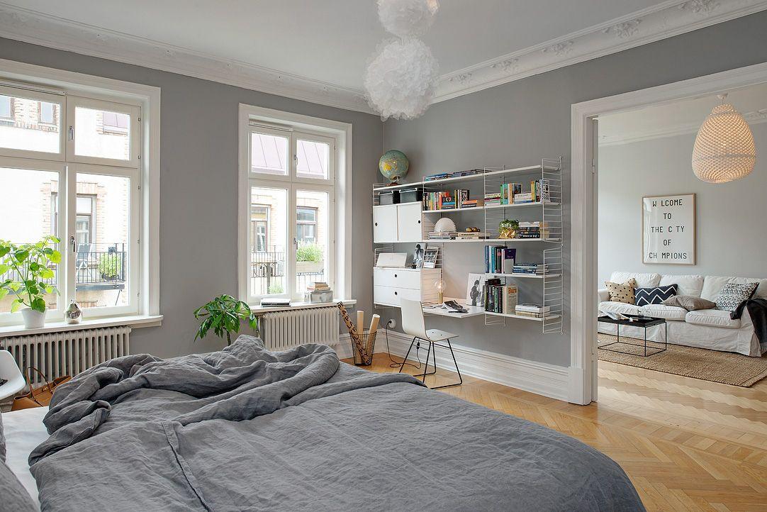 Gris y blanco siempre un acierto   Bedrooms, Grey room and Apartment ...