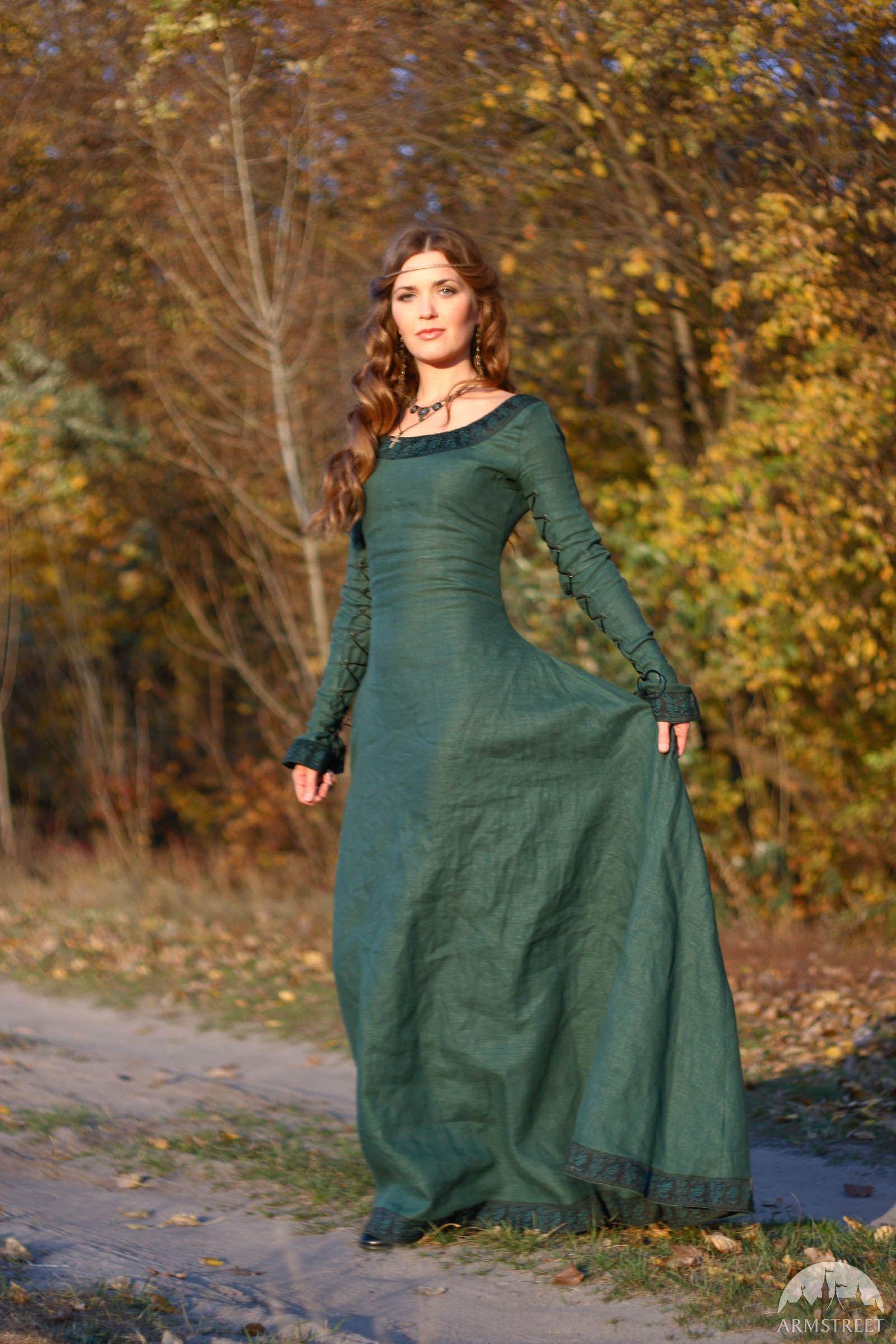 "3c2d869f7dcca Linen Dress ""Autumn Princess"" | Garb Ideas for Tracy | Dresses ..."