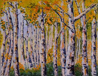 Safety in Numbers by Lisa Elley. 2012. 11 X 14. Oil on Canvas. 100% Palette Knife Painting. No brush!