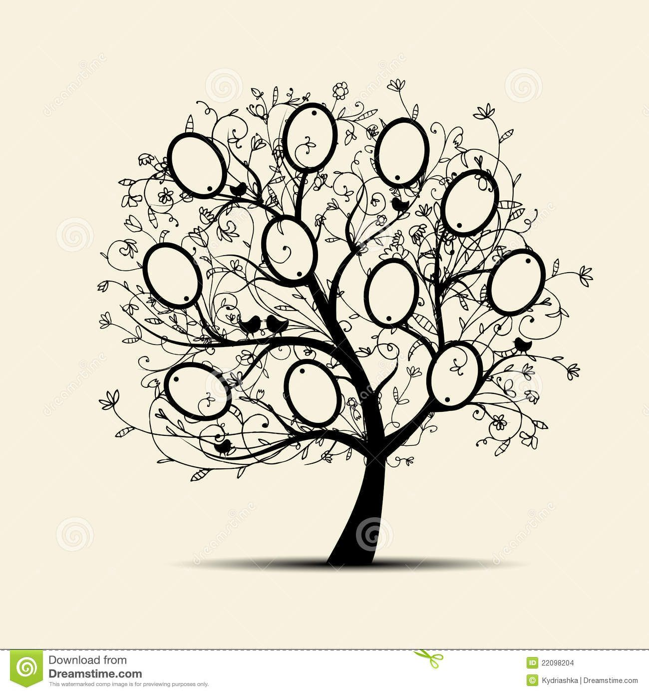 family tree design insert your photos into frames stock vector - Family Tree Design Ideas