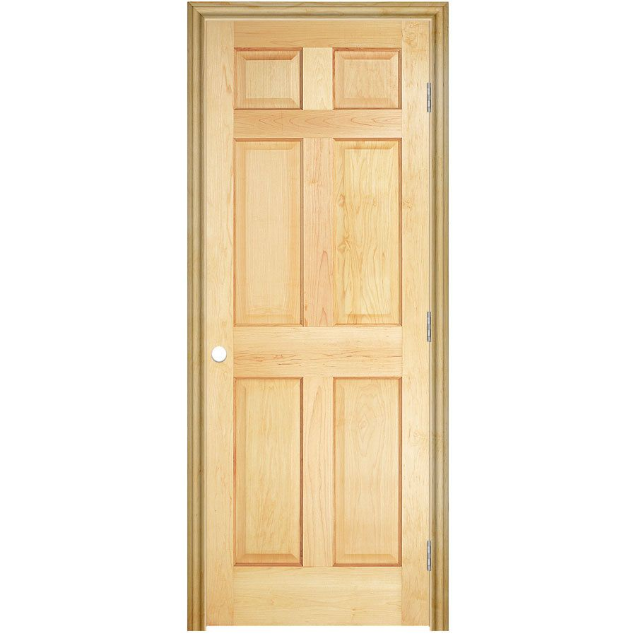 Masonite Traditional Unfinished 6 Panel Solid Core Wood Pine Pre Hung Door Common 24 In X 80 In Actual 25 5 In X 81 5 In Lowes Com Pine Interior Doors Reliabilt Prehung Interior Doors