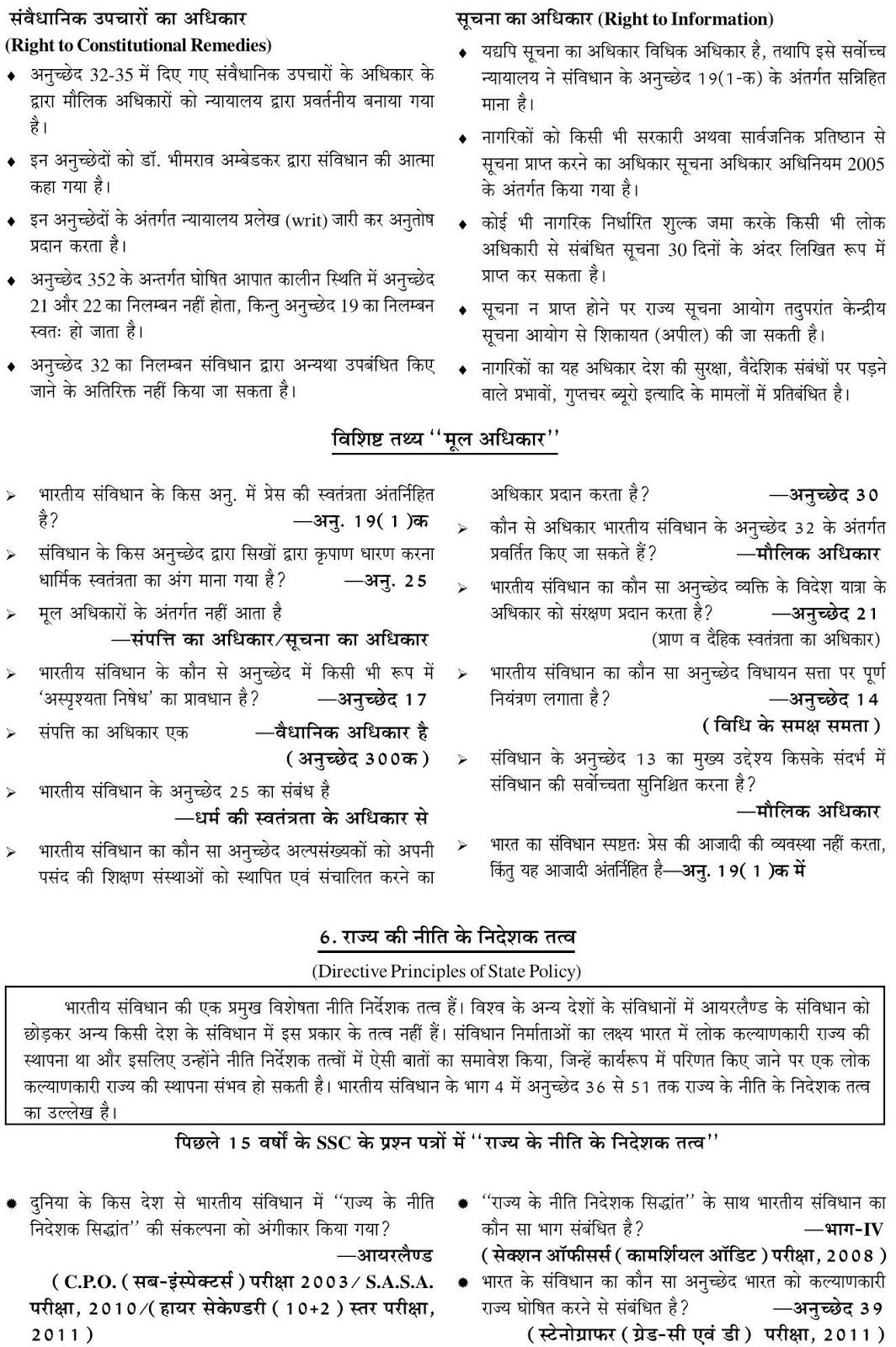 INDIAN CONSTITUTION-GENERAL KNOWLEDGE QUESTIONS AND ...