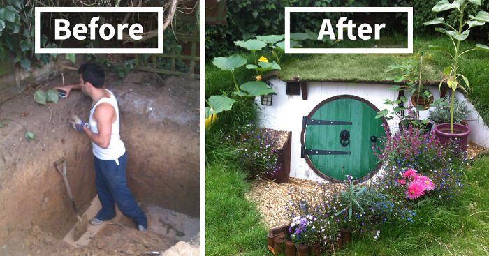 Hobbit Haus Bauen build a hobbit house in your backyard backyard house and gardens