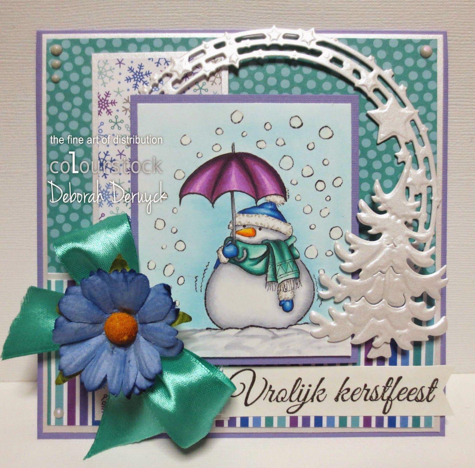 Copic card made by DT member Deborah