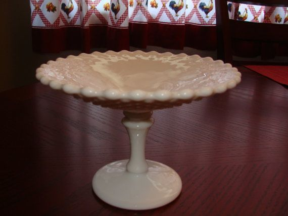 Milk Glass Candy dish by catherinefarrens on Etsy, $6.99