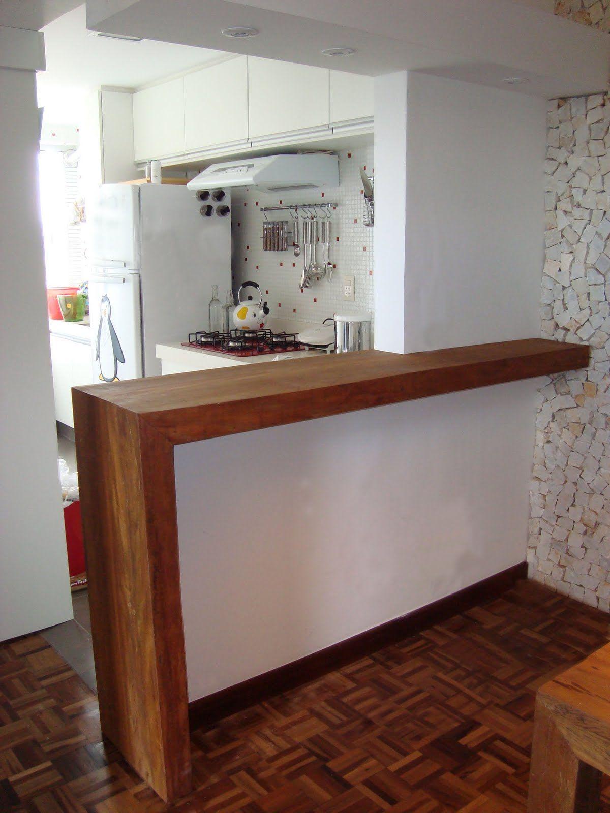 Bancada De Madeira Cozinha Pesquisa Google Reformas Na Casa Em  ~ Bancada Divisoria Sala Cozinha