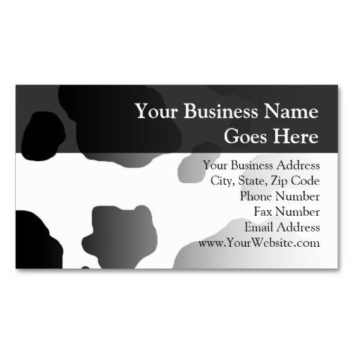 Fun cow print personalized farm milk dairy business card cow fun cow print personalized business card templates colourmoves