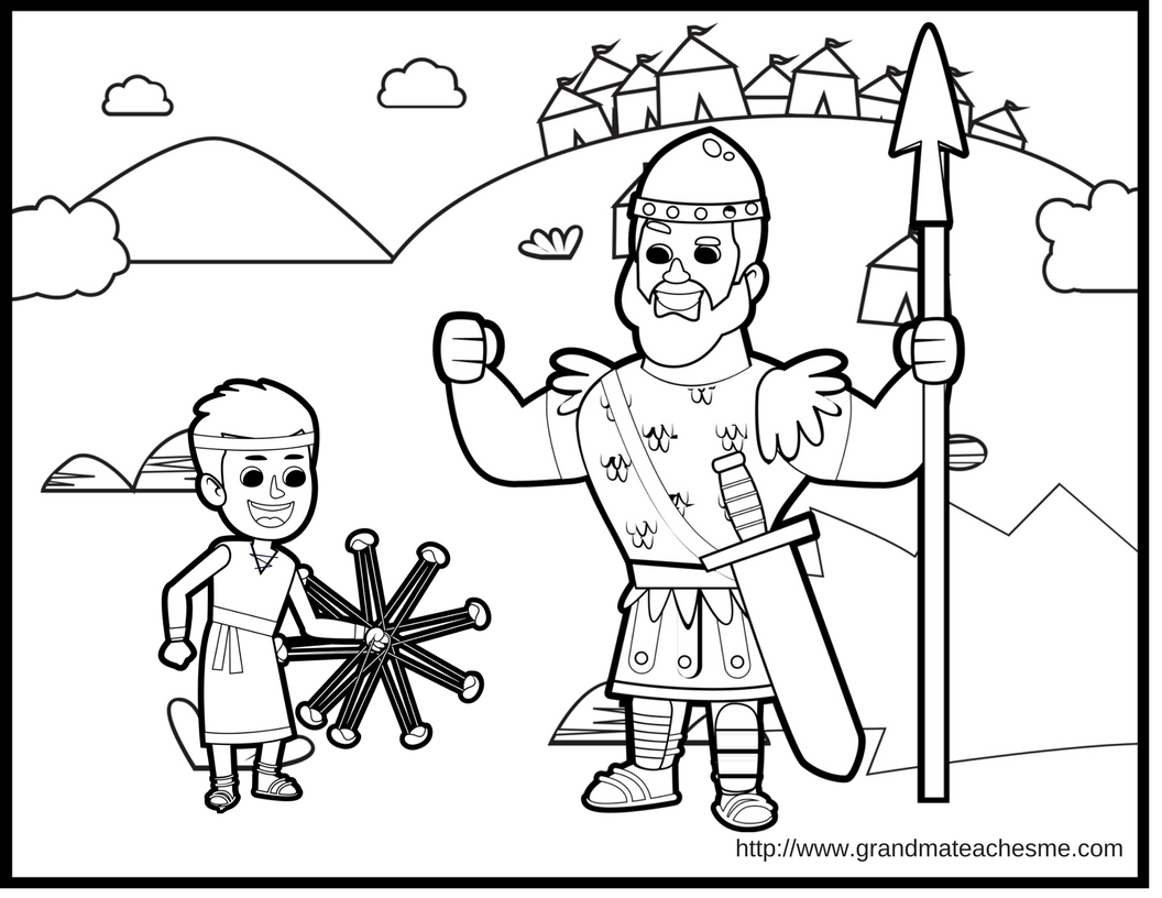 David Goliath Coloring Page Christian Preschool Christian Printables Bible Study For Kids