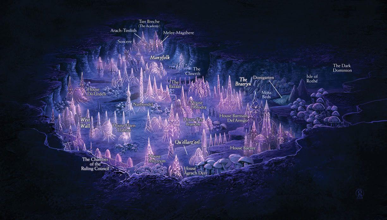 Map of Menzoberranzan | Drow | Fantasy art, Fantasy map