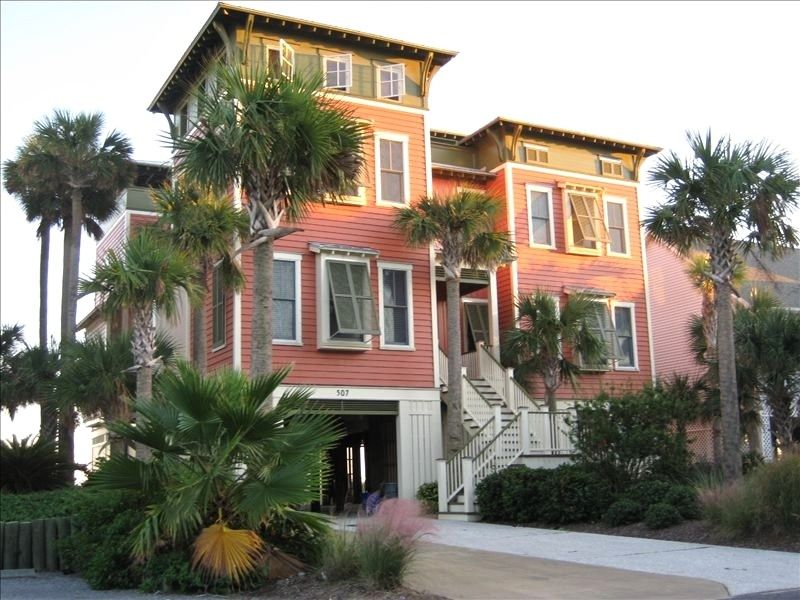 Private Homes Vacation Al Vrbo 208906 5 Br Folly Beach House In Sc Astonishing Oceanfront Rooftop Cabana Elevator