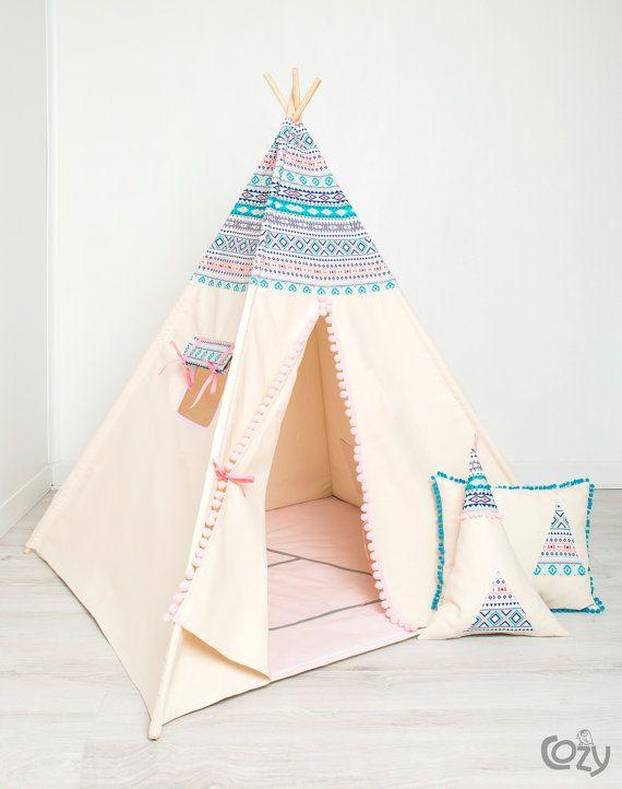 Tipi indien, les enfants jouent tente, tipi, tente indienne, tente ...