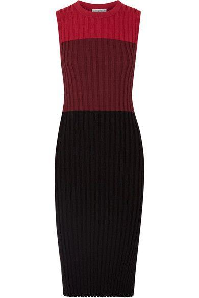 Altuzarra - Mariana color-block ribbed stretch-knit midi dress